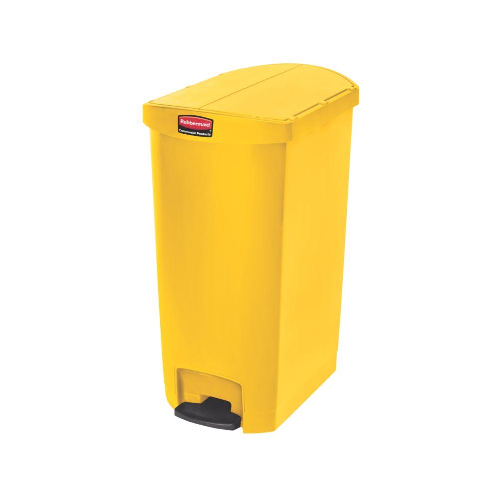 Rubbermaid Slim Jim Step On container End Step kunststof 68 ltr - geel
