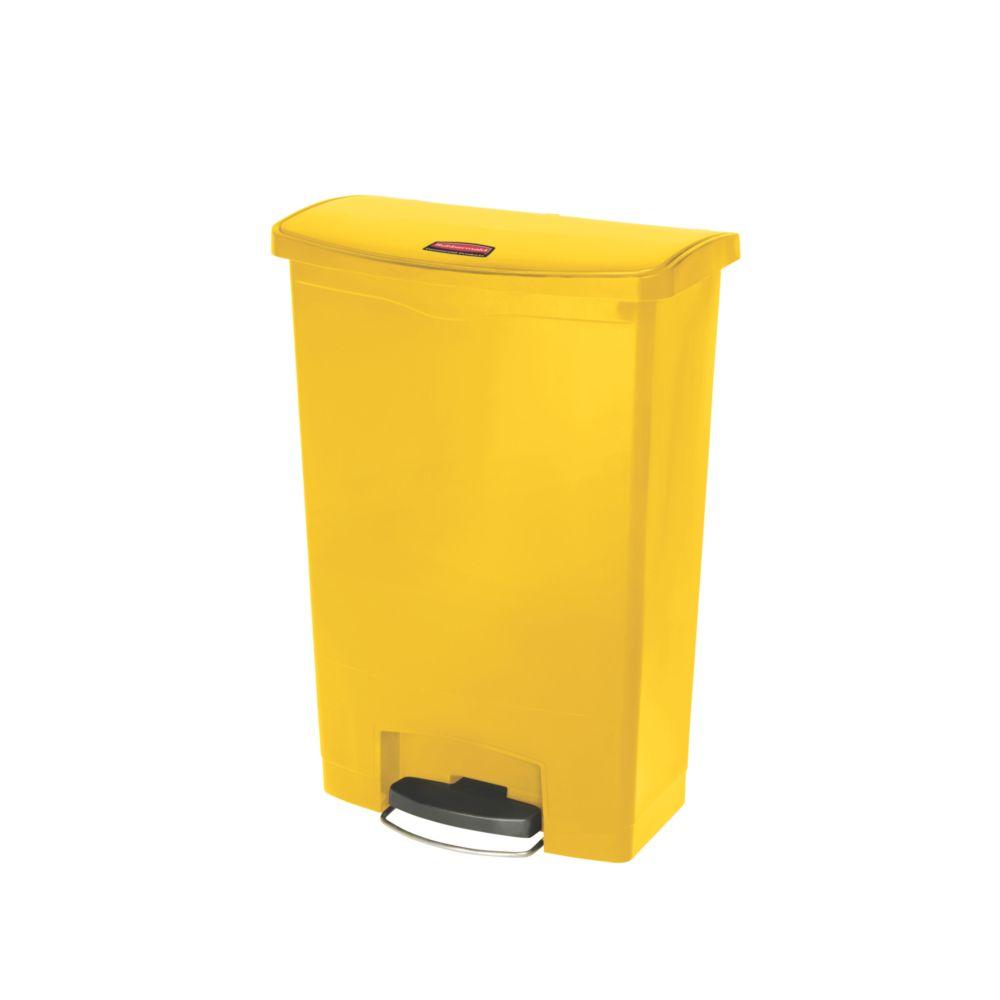 Rubbermaid Slim Jim Step On container Front Step kunststof 90 ltr - geel