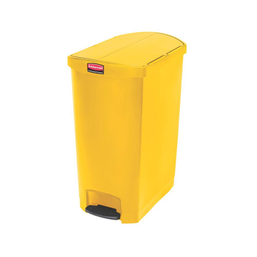 Rubbermaid Slim Jim Step On container End Step kunststof 90 ltr - geel