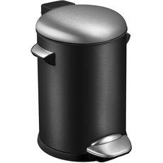 EKO Pedaalemmer Belle Deluxe 3 ltr - zwart/mat RVS