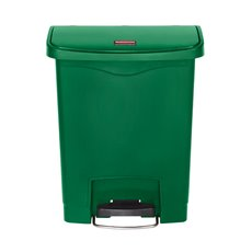 Rubbermaid Slim Jim Step On container Front Step kunststof 30 ltr - groen