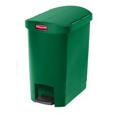 Rubbermaid Slim Jim Step On container End Step kunststof 30 ltr - groen
