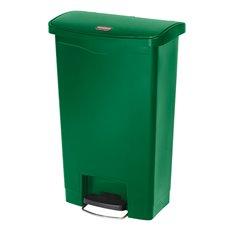 Rubbermaid Slim Jim Step On container Front Step kunststof 50 ltr - groen