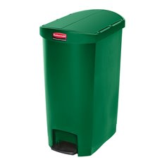 Rubbermaid Slim Jim Step On container End Step kunststof 50 ltr - groen