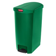 Rubbermaid Slim Jim Step On container End Step kunststof 68 ltr - groen