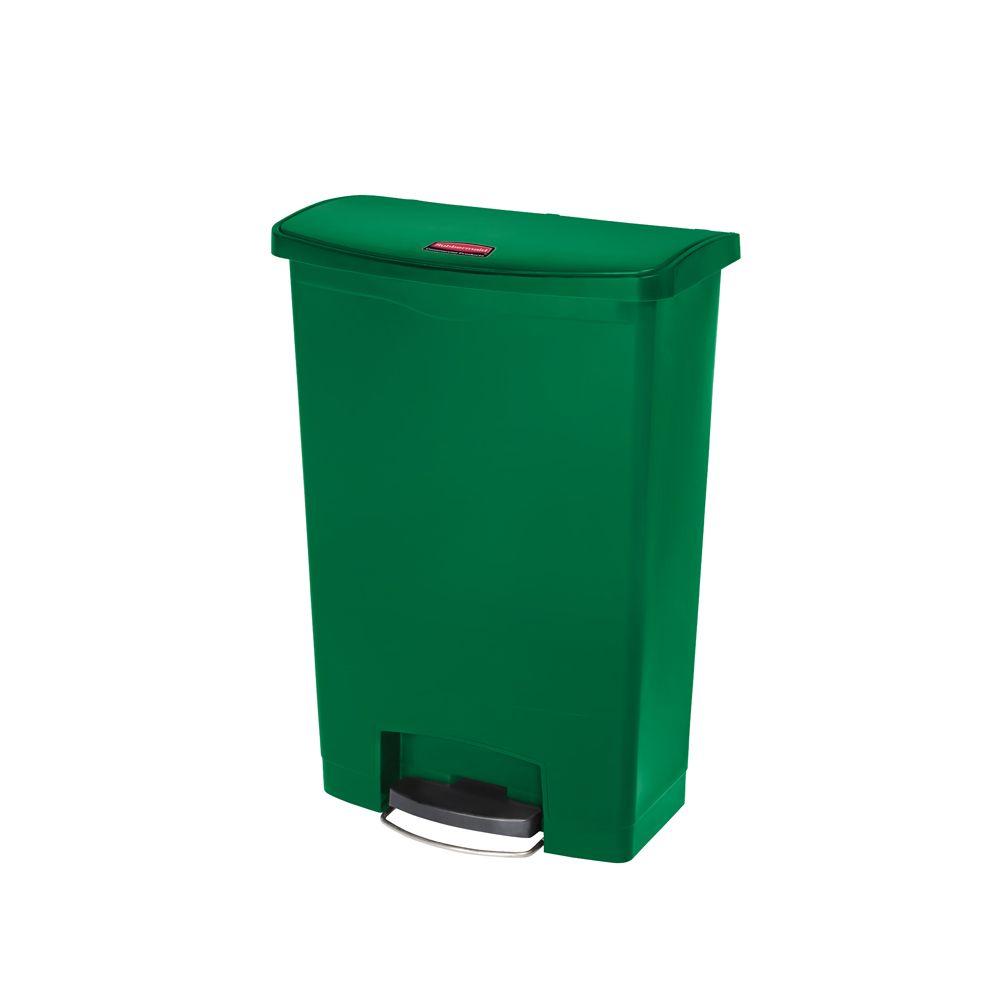 Rubbermaid Slim Jim Step On container Front Step kunststof 90 ltr - groen