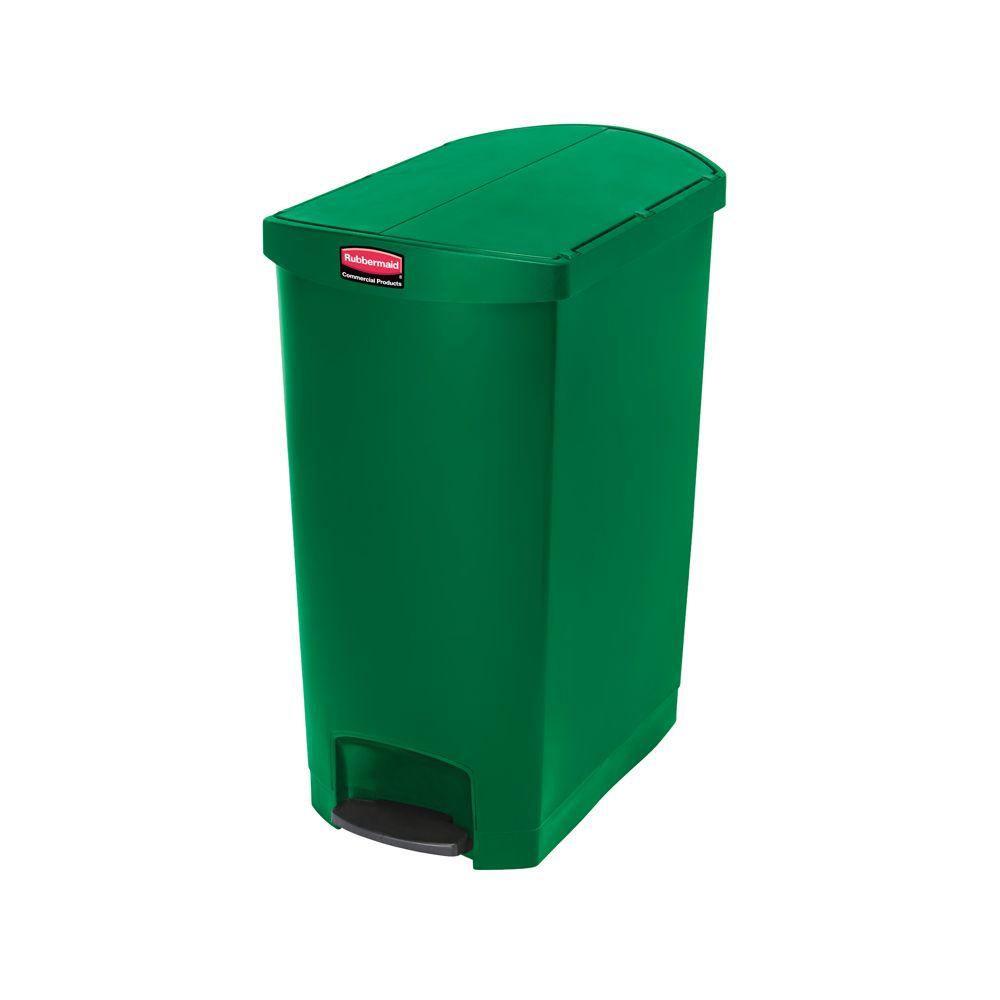 Rubbermaid Slim Jim Step On container End Step kunststof 90 ltr - groen