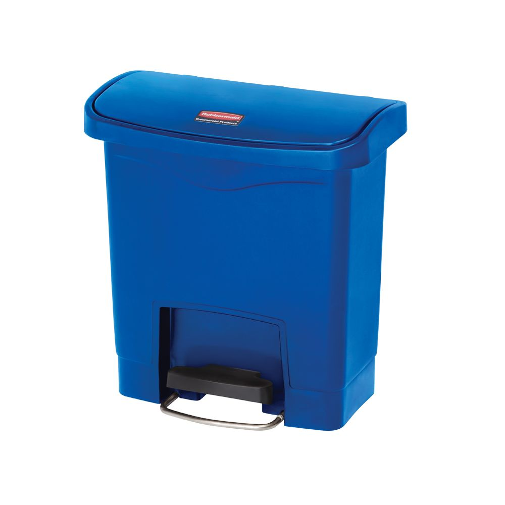 Rubbermaid Slim Jim Step On container Front Step kunststof 15 ltr - blauw
