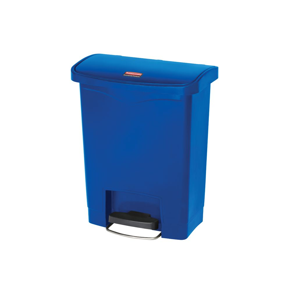 Rubbermaid Slim Jim Step On container Front Step kunststof 30 ltr - blauw