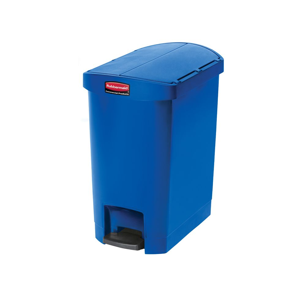 Rubbermaid Slim Jim Step On container End Step kunststof 30 ltr - blauw