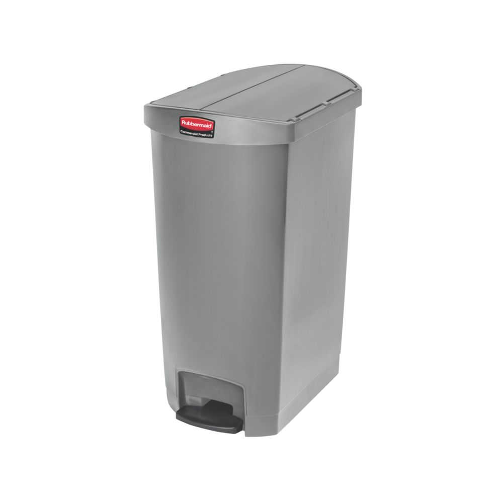 Rubbermaid Slim Jim Step On container End Step kunststof 68 ltr - grijs
