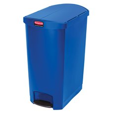 Rubbermaid Slim Jim Step On container End Step kunststof 90 ltr - blauw
