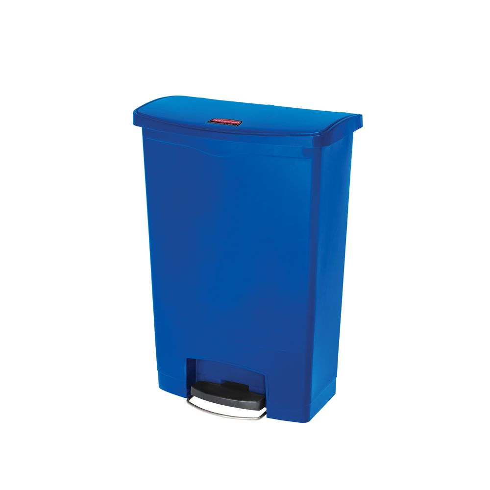 Rubbermaid Slim Jim Step On container Front Step kunststof 90 ltr - blauw