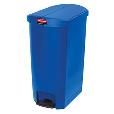 Rubbermaid Slim Jim Step On container End Step kunststof 68 ltr - blauw