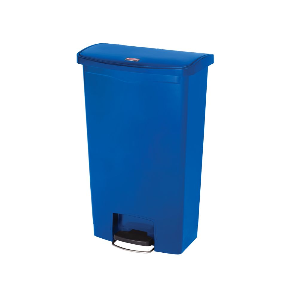 Rubbermaid Slim Jim Step On container Front Step kunststof 68 ltr - blauw