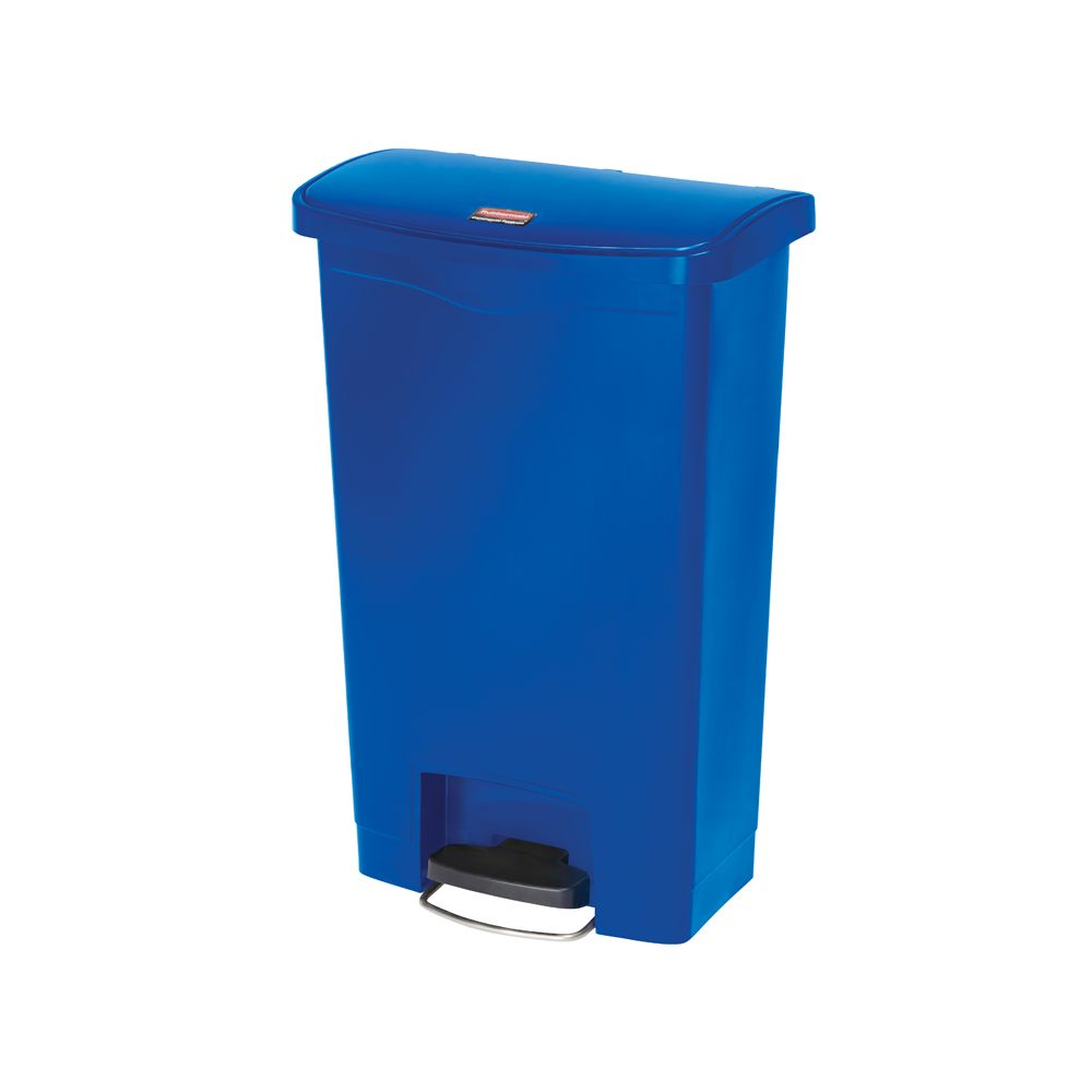 Rubbermaid Slim Jim Step On container Front Step kunststof 50 ltr - blauw