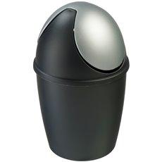 Tafelafvalbakje Tiglio - zwart/zilver