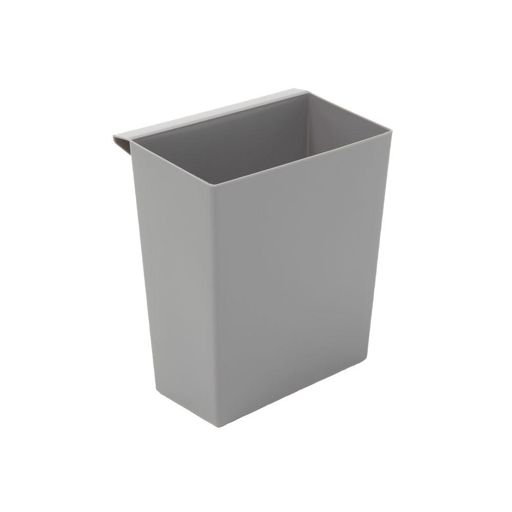 Inzetbakje voor vierkant tapse papierbak - grijs