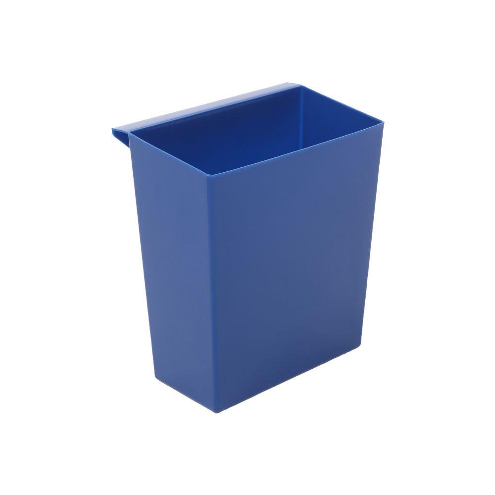 Inzetbakje voor vierkant tapse papierbak - blauw
