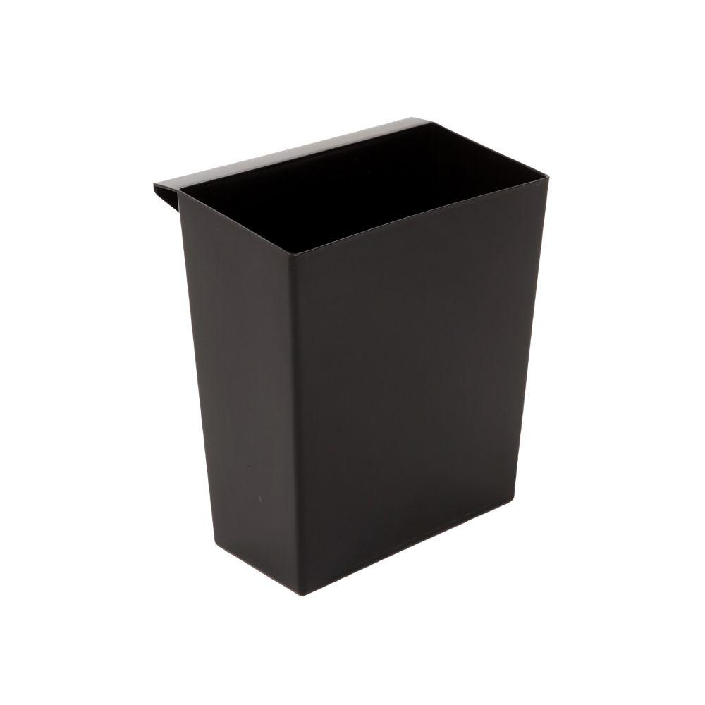Inzetbakje voor vierkant tapse papierbak - zwart