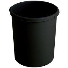 Kunststof papierbak, 30 ltr - zwart