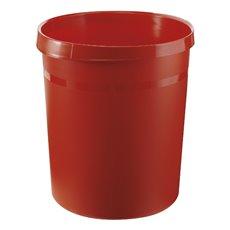 Kunststof papierbak, 18 ltr - rood