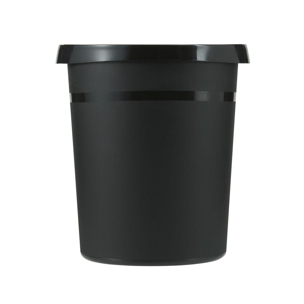 Kunststof papierbak, 18 ltr - zwart