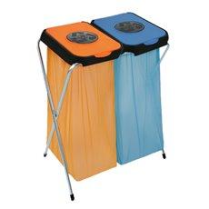 Afvalzakhouder EKOthinks 2 - blauw/oranje