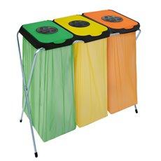 Afvalzakhouder EKOthinks 3 - groen/geel/oranje