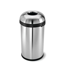 Simplehuman afvalbak Bullet Open Top 60 ltr - zilver