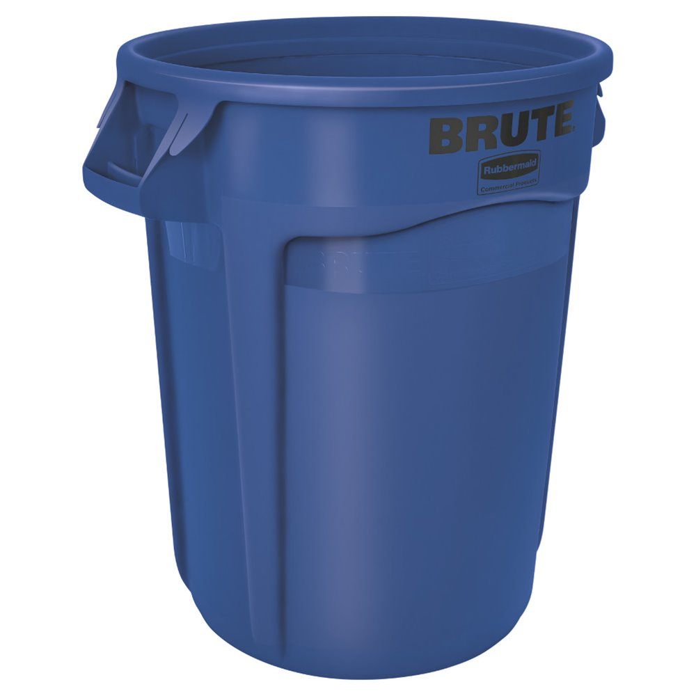 Rubbermaid ronde Brute container 121 ltr - blauw