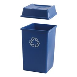 Rubbermaid - Styleline container 132 ltr - blauw met recyclingsymbool