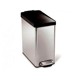 Simplehuman pedaalemmer Profile 10 ltr - RVS/zwart