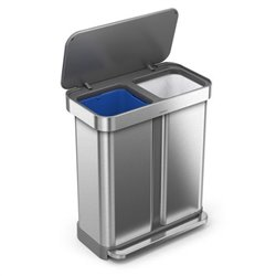 Simplehuman afvalemmer Liner Pocket Recycler 24+34 liter - RVS FPP