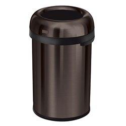 Simplehuman afvalbak Bullet Open Top 115 ltr - brons