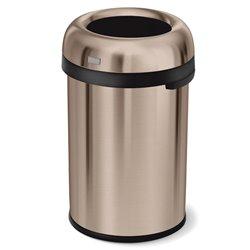 Afvalbak Bullet Open Top 115 ltr, Simplehuman rose goud