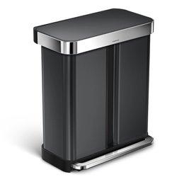Simplehuman afvalemmer Liner Pocket Recycler 24+34 liter -zwart