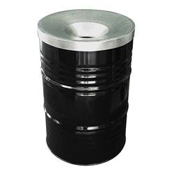 The BinBin afvalbak met vlamvertragend deksel 200 ltr - zwart