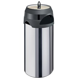 As-papierbak 60 ltr - RVS/zwart