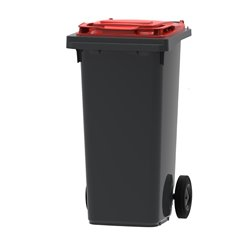 Mini-container 120 ltr - grijs/rood
