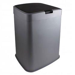 Afvalbak 70 ltr grijs - zwart