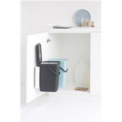 Brabantia inbouwafvalemmer Sort & Go 2x12 ltr - mint/grijs