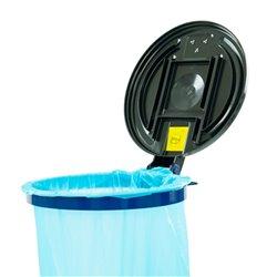 Verrijdbare afvalzakstandaard demontabel blauw - zwart
