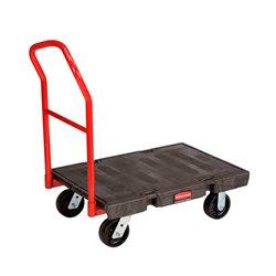Rubbermaid platformwagen intensief gebruik -  zwart/rood