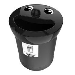Afvalbak Smiley Face Bin 52 ltr general waste - zwart