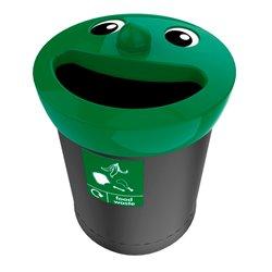 Afvalbak Smiley Face Bin 52 ltr food waste - zwart/groen