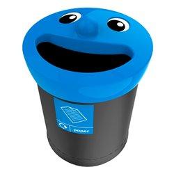 Afvalbak Smiley Face Bin 52 ltr paper - zwart/blauw