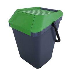 Stapelbare afvalbak Easymax 45 ltr grijs - groen