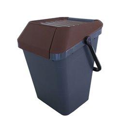 Stapelbare afvalbak Easymax 45 ltr grijs - bruin