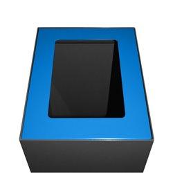 Top modulaire afvalscheidingsunit 60 ltr - blauw